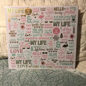 Colorful Girly Scrapbook Album New Unused